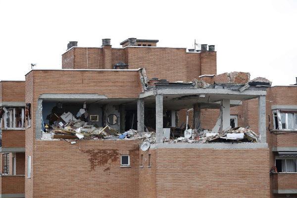 Estado del edificio en el que se produjo la explosión.
