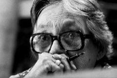 La escritora Marguerite Duras en 1983.