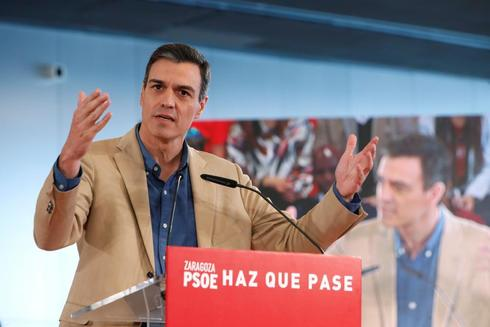 Pedro Sánchez, durante un acto del PSOE en Zaragoza