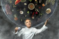 El fundador de Bullifoundation, Ferran Adrià. A la derecha, la portada de 'Coffee Sapiens'. EL MUNDO