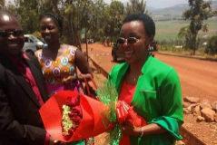 Anselme Mutuyimana y la líder opositora Victoire Ingabire, 'la Mandela' ruandesa.