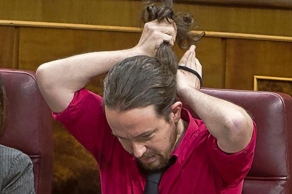 El secretario general de Unidas Podemos, Pablo Iglesias, en el Congreso.