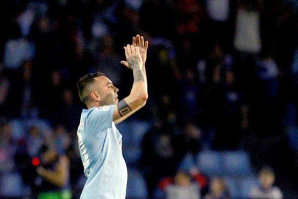 Iago Aspas, durante un partido del Celta de Vigo.