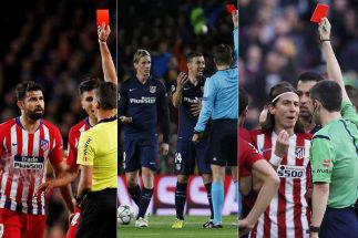 Las siete expulsiones en el Camp Nou que irritan al Atlético