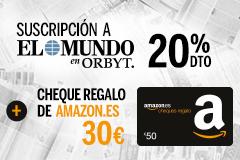 ¡Llévate 30 euros  para tus compras en Amazon.es con tu suscripción a El Mundo!