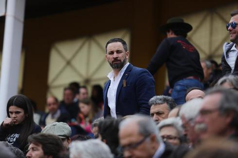 El líder de Vox, Santiago Abascal, en una corrida de toros este...