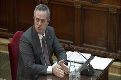 Joaquim Forn, durante su declaración en el juicio