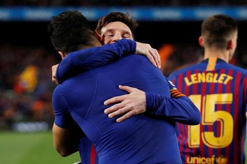 El paraíso de Messi y Suárez