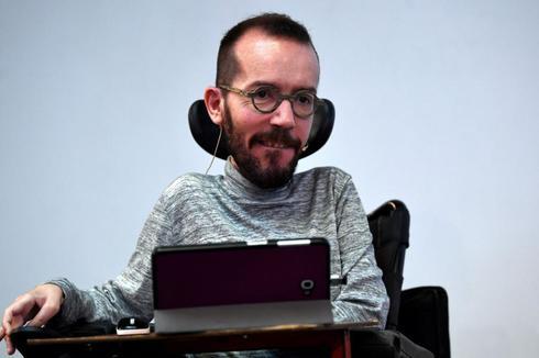 Pablo Echenique, en la presentación del programa de Podemos.