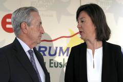 Los presidentes de los órganos de competencia estatal y vasco, José María Marín y Alba Urresola, respectivamente
