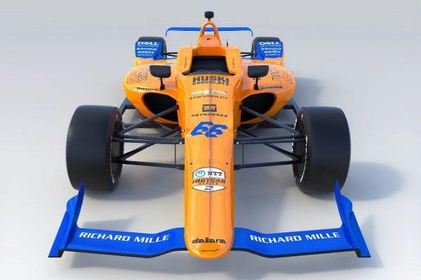 Imagen del McLaren que utilizará Alonso en Indianápolis.