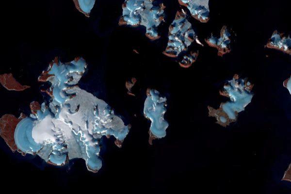 Imagen de satélite del ártico ruso