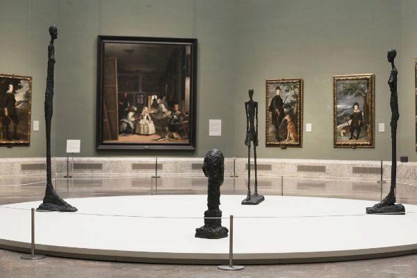 Giacometti dialoga con los grandes maestros