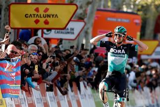 Maximilian Scachmann, en una etapa de la Volta a Catalunya.