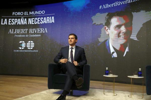 Albert Rivera, en el foro de EL MUNDO 'La España necesaria'.