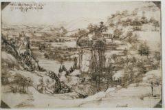 La obra 'Paesaggio' de Leonardo Da Vinci (1473)