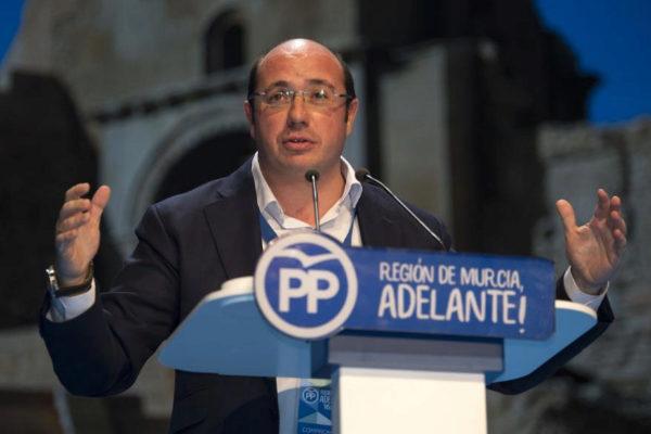 Pedro Antonio Sánchez, durante un acto del PP en 2017.