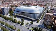 GRAF5482. MADRID.- Fotografía facilitada por el Real Madrid de una recreación del estadio Santiago <HIT>Bernabéu</HIT> tras su remodelación que comenzará este verano y, entre otras novedades, incluirá una cubierta retráctil de aspecto futurista, un videomarcador de 360 grados, un hotel de lujo y <HIT>nuevas</HIT> zonas de ocio, aunque sin incrementar la edificabilidad. Real Madrid/ ***SOLO USO EDITORIAL***