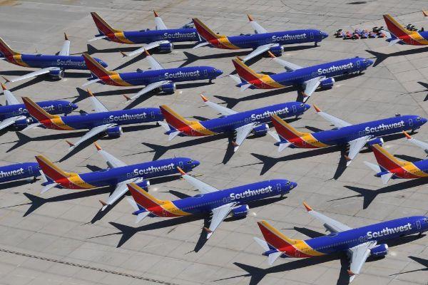Aviones Boeing 737 Max de la aerolínea Southwest Airlines.