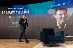 Albert Rivera, durante el foro 'La España necesaria', organizado por EL MUNDO.