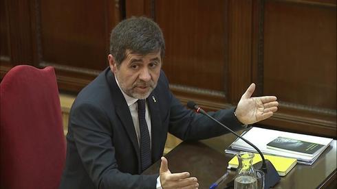 Jordi Sànchez, durante su declaración en el Supremo el pasado 21 de febrero.