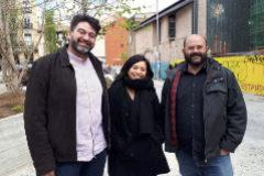 Carlos Sánchez Mato (i.), Rommy Arce y Pablo Carmona.