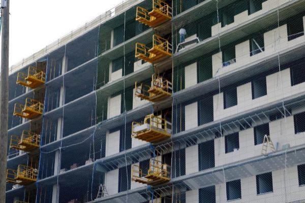 Edificio de viviendas en construcción en Barcelona.