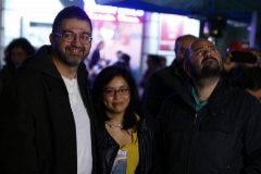 Mato, Arce y Carmona en una manifestación.