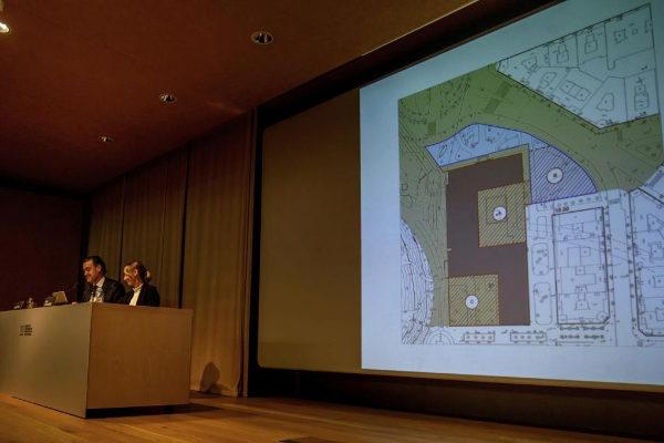Acto de presentación de la ampliación del museo.