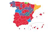 El mapa de España cambiará de color el 28-A