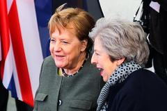 British PM <HIT>May</HIT> meets German Chancellor <HIT>Merkel</HIT> in Berlin