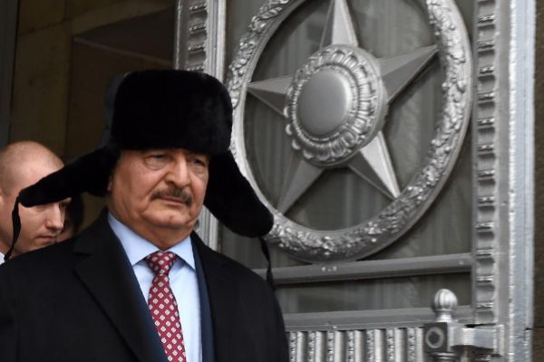 El mariscal Jalifa Haftar, en una visita a Moscú.