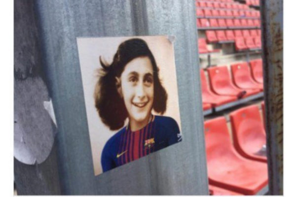 Imagen de Anna Frank con la miseta del BarÇa