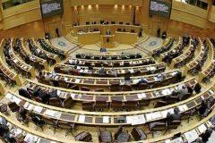 Vista del hemiciclo del Senado, durante un pleno.