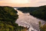 El río Nilo Blanco donde el turista murió el sábado por hacerse una foto.