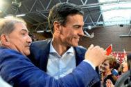 Pedro Sánchez, en un acto del PSOE de León
