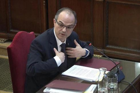 Jordi Turull, durante su declaración en el Tribunal Supremo