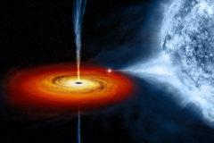 Recreacion artistica de un agujero negro.