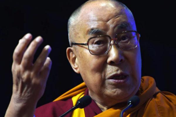 El Dalai Lama, durante un encuentro religioso, en 2017.