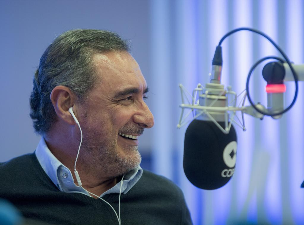 Carlos Herrera, en los micrófonos de la Cope.
