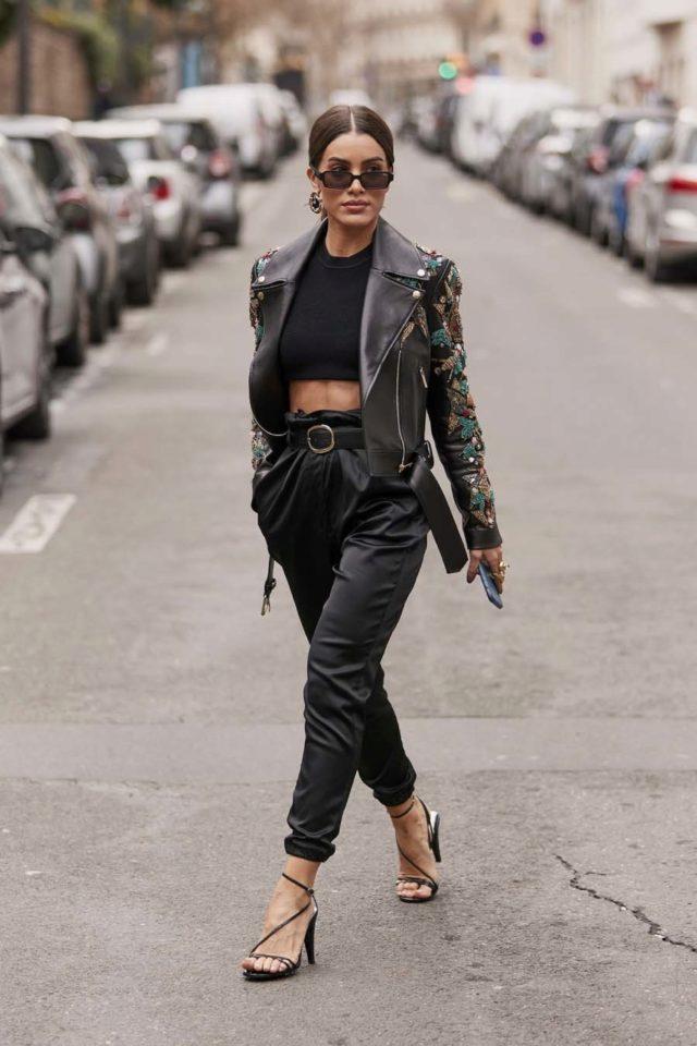 Pantalon De Tiro Alto Negro De Zara Moda El Mundo