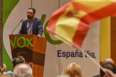 Abascal en un acto celebrado en Bilbao.