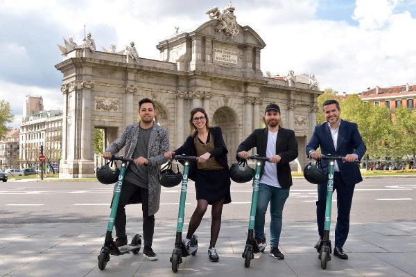 Los patinetes de UFO y Seat en Madrid
