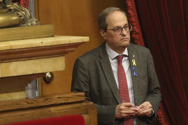 Antonio Moreno 04.04.2019 Barcelona Cataluña.El president <HIT>Quim</HIT> <HIT>Torra</HIT> en el pleno del Parlament.