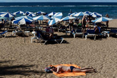 El archipiélago de Gran Canaria en verano.