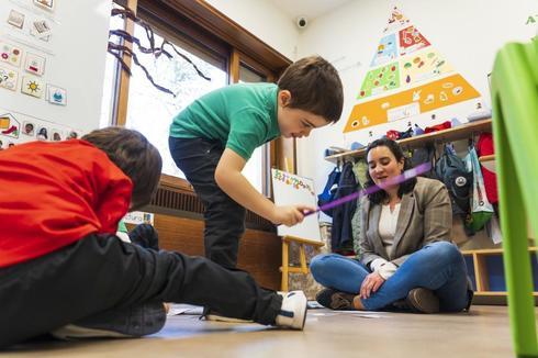Niños en un colegio de la Comunidad de Madrid