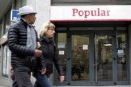 Antigua sucursal del Banco Popular en Madrid.