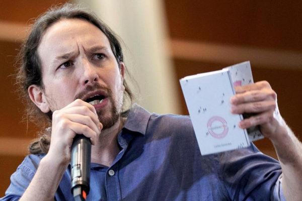 Pablo Iglesias, en un acto de Podemos en Zaragoza.