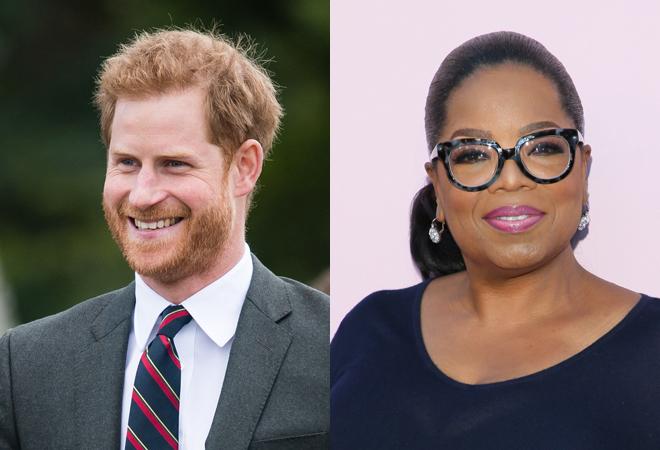El príncipe Harry y Oprah Winfrey.