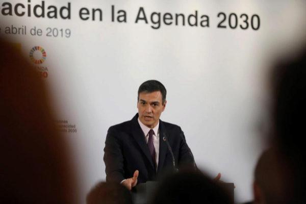 Pedro Sánchez, en un acto sobre la Agenda 2030 en La Moncloa.
